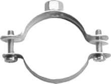 TWO SCREW PIPE CLAMP WITHOUT RUBBER