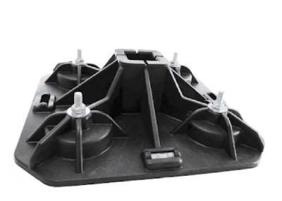Pata pro profil ST 41x41 (2x vodováha)